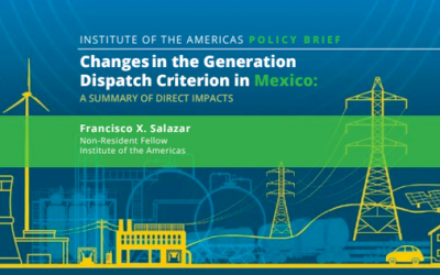 Changes in the generation dispatch criterion in Mexico